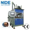 Generator motor three working station stator coil winding inserting machine