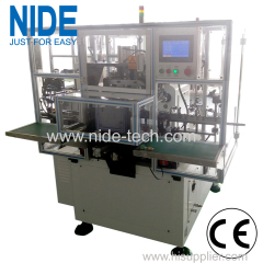 NIDE upgraded model automatic three stations stator coil winding machine with 2 poles