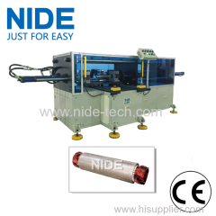 Horizontal type Big power long stack length pump stator coil middle forming machine