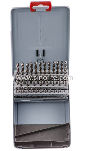 51pcs HSS Drill Bits Sizes from 1-6 x 0.1mm packed in metal box