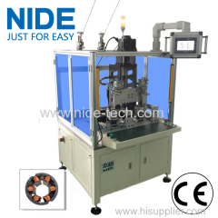 Double two working stations Brushless Motor Fan Motor Stator Automatic Needle Winding Machine