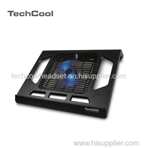 plastic slim notebook coolind pad with singe USB fan