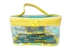 Double-Pullers Lettering Print PVC Cosmetic Bag Travel Cosmetic Bag Makeup Pouch Organizer Bag