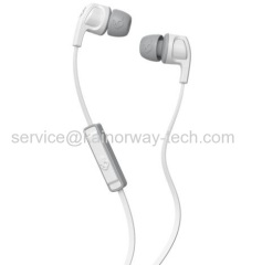 2017 New Skullcandy Smokin' Buds2 White/Grey In-Ear Wired Earbud Headphones With Microphone