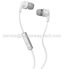 Skullcandy Smokin' Buds2.0 In Ear Audio Headset Earphones With Mic&In-Line Control In White Gray
