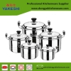 best selling OEM 10pcs stainless steel cookware set and cooking pot set
