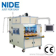 Eight working station coil winding machine automatically
