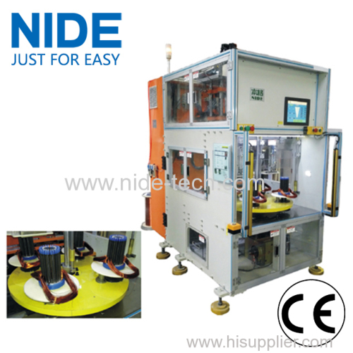 Vertical type stator automatic coil winding machine