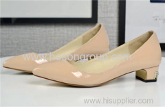 Low heel pointy toe women dress shoes