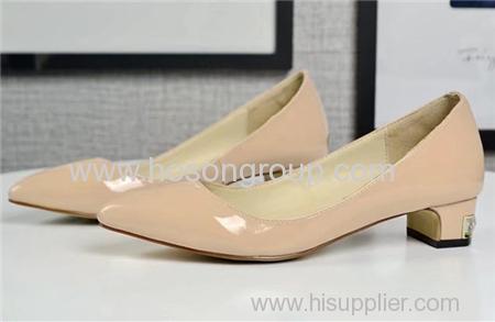 Low heel pointy toe women dress shoes