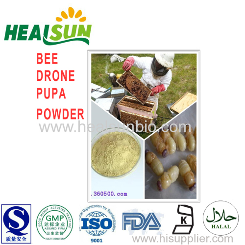 Lyophilized bee drone pupa powder