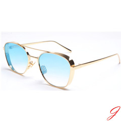 Fashion metal sunglasses polarized mirror lens sunglasses custom logo welcome