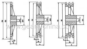 Stainless steel Cast Iron taper conveyor Sprocket