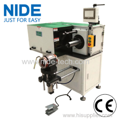 Single side horizontal type stator coil lacing machine