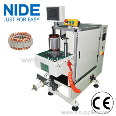 Table Fan motor stator coil slot winding wire lacing machine