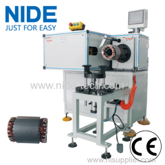 HORIZONTAL SINGLE SIDE STATOR COIL LACING MACHINE