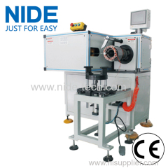 Horizontal type automatic motor stator lacing machine