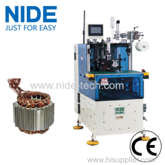 Automatic double side stator coil end lacing machine