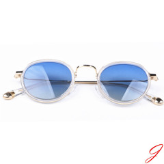 Retro style metal sunglasses fashion polarized mirror lens sunglasses wholeasale custom glasses for women man