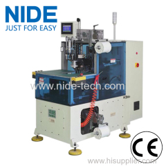 Compression motor auto stator end coil lacing machine
