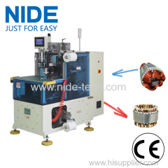 Automatic two needles stator coil lacing machine