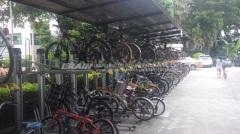 double tiered bike rack