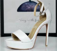 Open toe platform lady high heel sandals