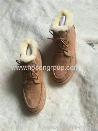 Mulheres suede snow warm ankle shoes