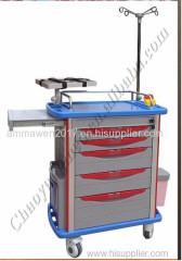 Hospital furniture ABS plastic emergency trolley