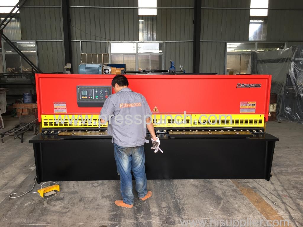 QC12K 6*3200MM hydraulic swing beam Shearing machine price