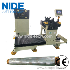 Deep water pump motor semi-auto stator coil inserter