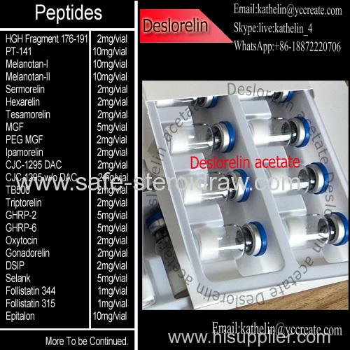 Gonadotropin Releasing Hormone Deslorelin Peptides Powder CAS 57773-65-6 Deslorelin Acetate