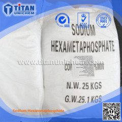 SHMP Sodium Hexametaphosphate 68% CAS 10124-56-8 Technical grade Food grade
