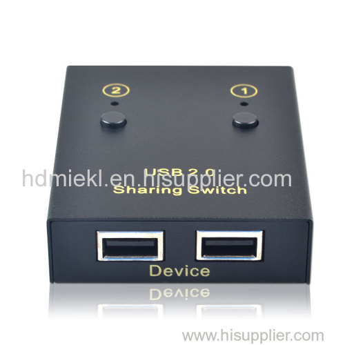 2 ports USB device sharing switch for computer and printer