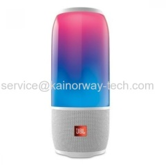 Harman's Latest JBL White Pulse 3 Wireless Bluetooth IPX7 Waterproof Speaker With 360 Degree Lightshow And LED Lighting