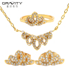 18k gold plated african beads cz jewelry set for wedding