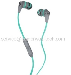 Wholesale Skullcandy Supreme Sound Ink'd In-Ear Sound Isolating Stereo Headphone Headset Grey Mint With Microphone