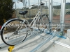 Theft proof double decker bike rack with intelligent lock