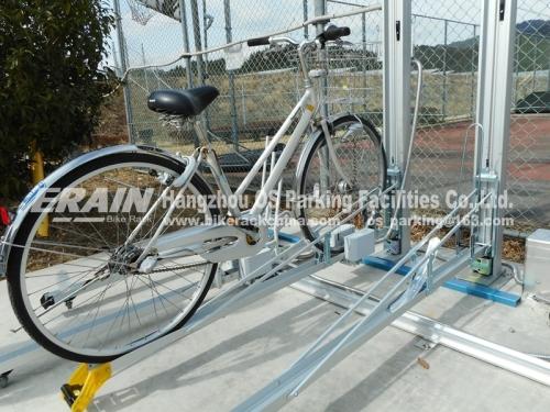 double decker bike rack with intelligent lock