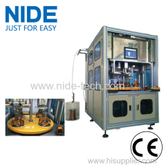 Four-station automatic stator winding insertion machine