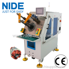 Motor stator servo automatic winding inserting machine