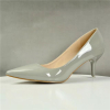 Patent leather low heel women stiletto heel dress shoes