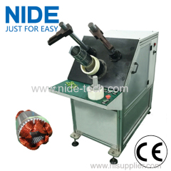 Economic type induction motor stator semi-auto coil insertion machine