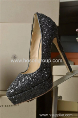 Paillette lady stiletto heel party shoes