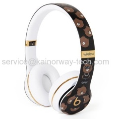 Line Friends Limited Edition Brown Beats by Dr.Dre Solo3 Wireless On Ear Headphones Headsets for iPhone iPad iPod