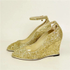 Paillette wedge heel fashion women dress shoes