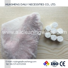 Nonwoven Compressed Tablet Coin Tissue