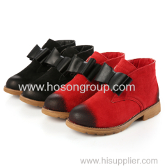 Kids bowtie lovely ankle shoes