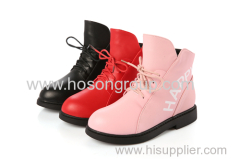 Kids lace ankle boots