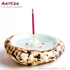 ODM & OEM Handmade 3D Customized Ceramic Stick Incense Burner Holder for Furniture Living Room